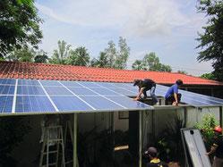 Aufbau der SOLARA Solarstromanlage