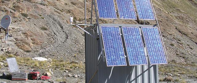 Stand Alone Messtation mit Solartechnik von Solara.