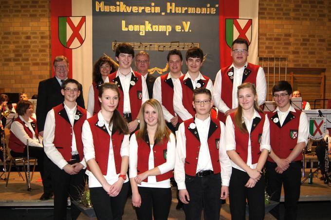 Auf den Nachwuchs ist Verlass: Die jungen Musiker des Musikvereins Harmonie Longkamp. Foto: Peter Brucker