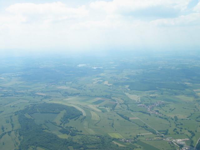 Vue sur la vallée, cap sud-ouest