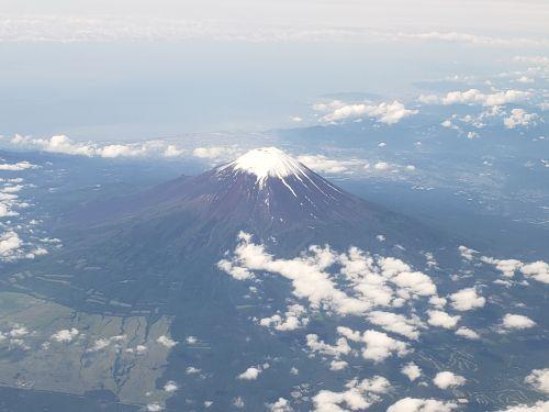 富士山機上より