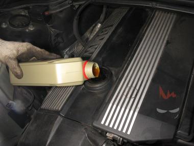 Замена масла в двигателях  BMW M52, M52TU, M54
