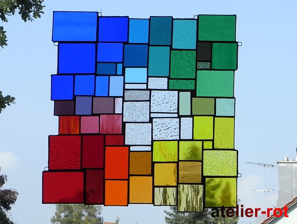 moderne fensterbilder in regenbogenfarben glasunikate fensterbilder kunstkurse m nchen. Black Bedroom Furniture Sets. Home Design Ideas