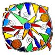 Mandala Tiffany Fensterbild