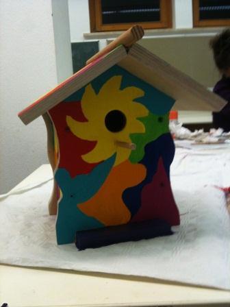 Kurs Vogelhäuser Haus eines Teilnehmers
