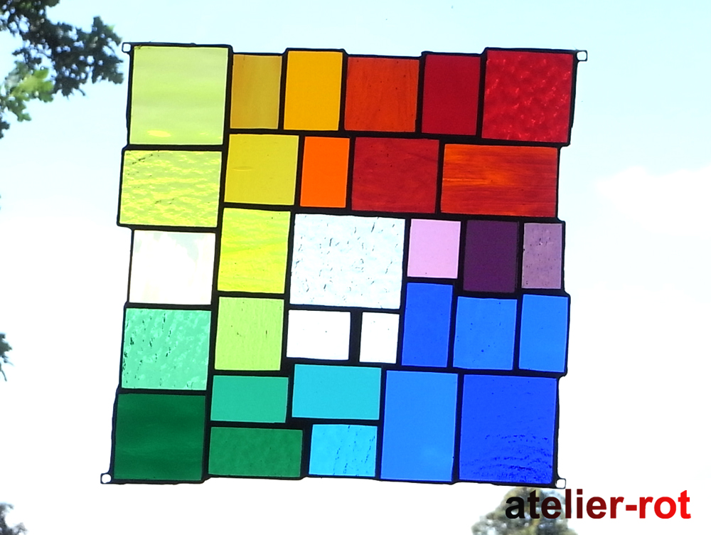 moderne Fensterbilder in Regenbogenfarben - Glasunikate ...