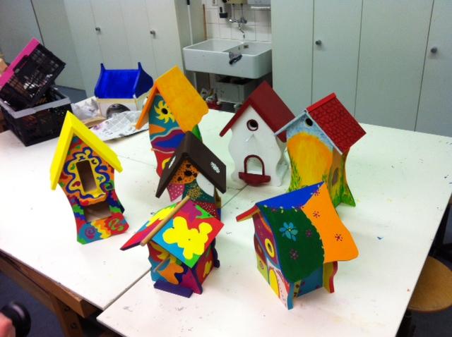 Kurs Vogelhäuser Häuser der Teilnehmer