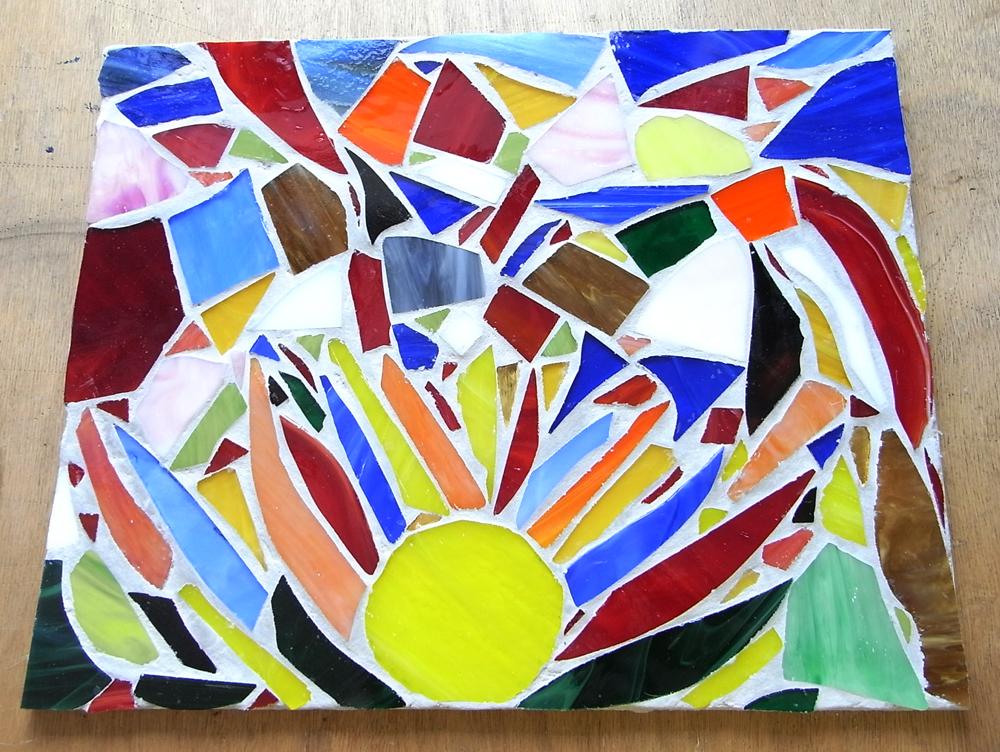 Mosaik Kurs Arbeit eines Teilnehmers