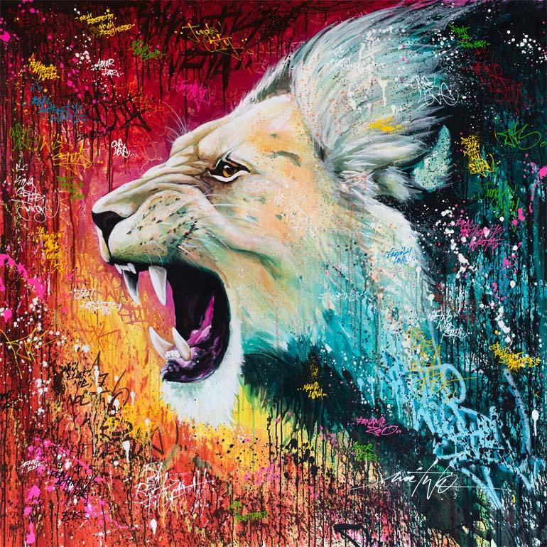 Noe-Two-Street-Art-lion-rugissement