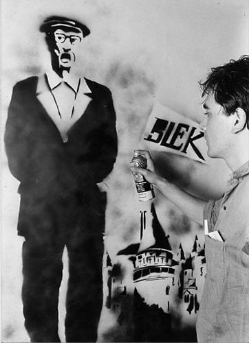 Blek le rat pochoir street art old irish man