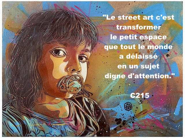 citation christin géminy C215 streeet art