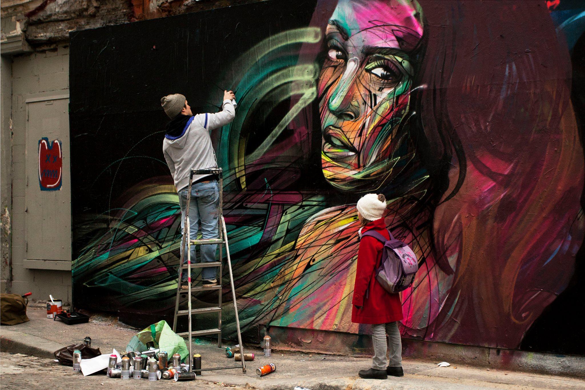 Hopare street artiste en voyage