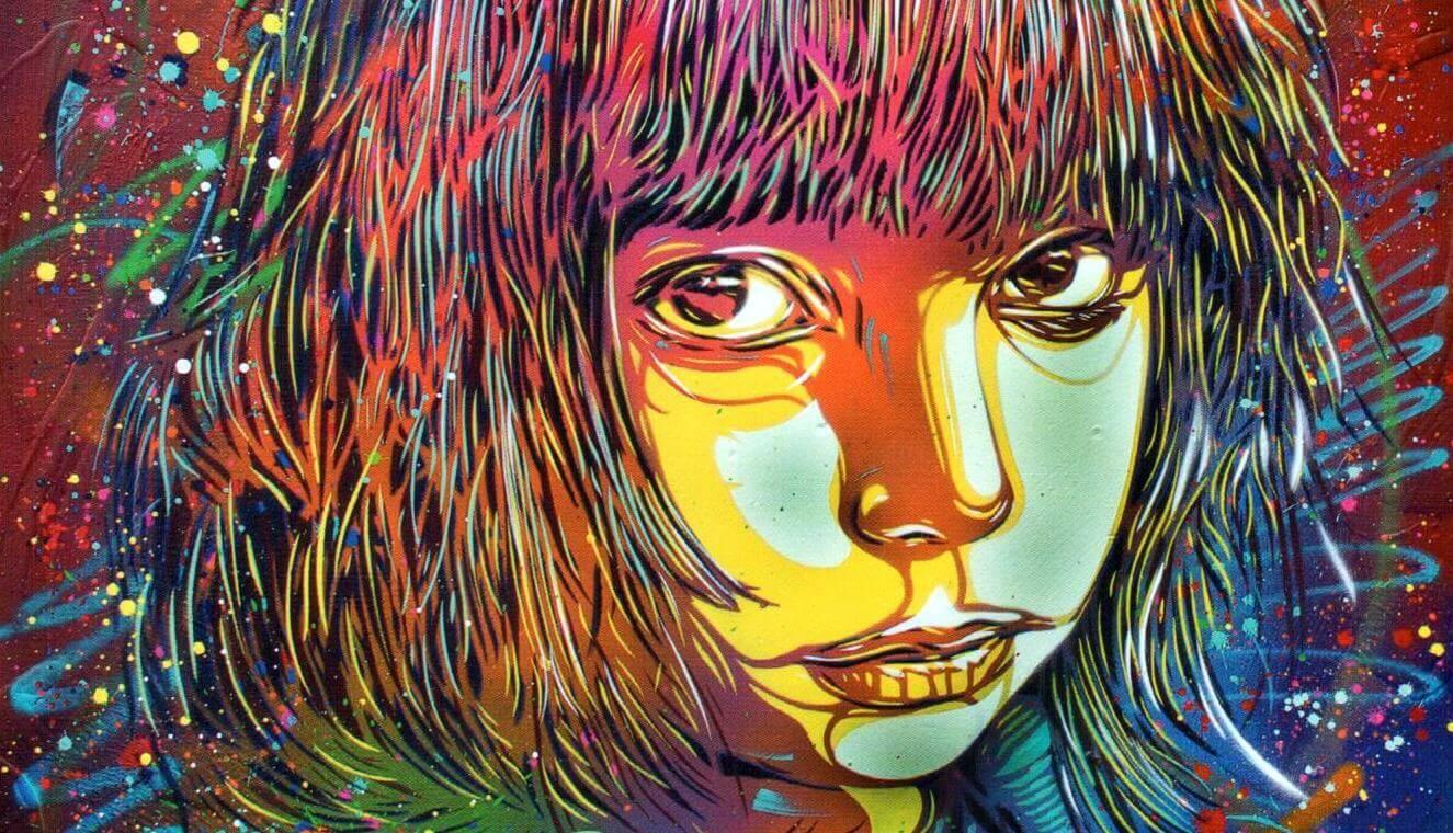 C215 street art nina