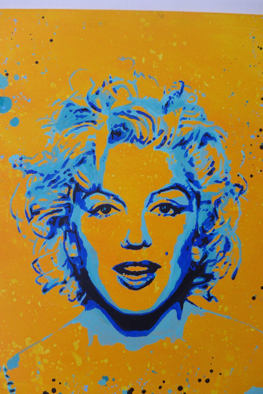 Tableau Street Art Marilyn Monroe splash detail- Slave 2.0