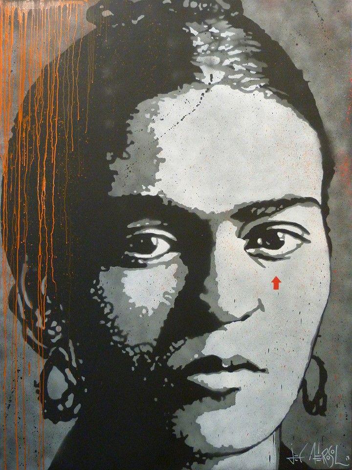 jef aérosol portrait kadho street art