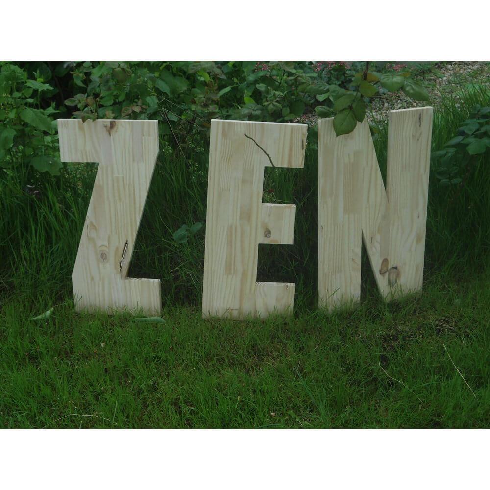 décoration grosse lettre zen