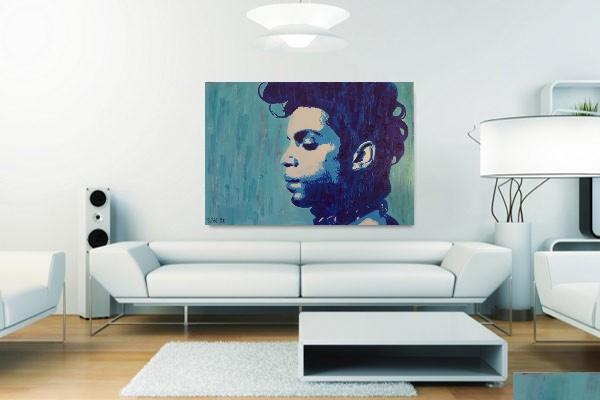 tableau personnalisé sur toile street art déco prince