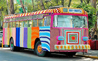 yarn bombing grace brett bus