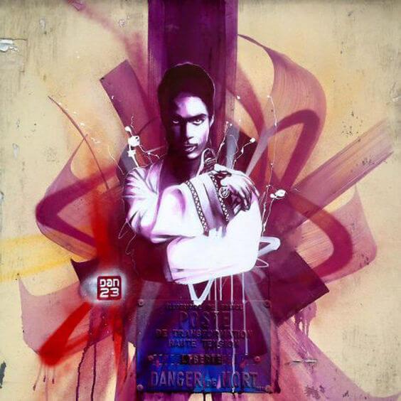 dan 23 street art prince rip