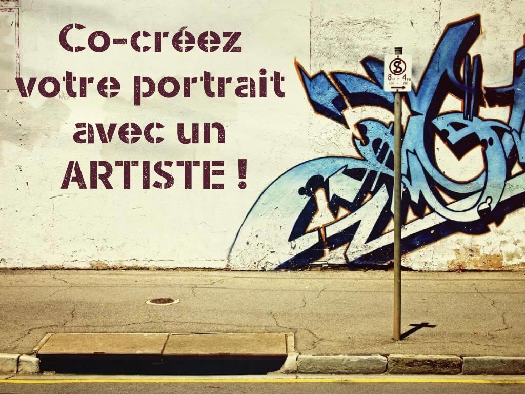 co-créez votre portrait avec un véritable artiste