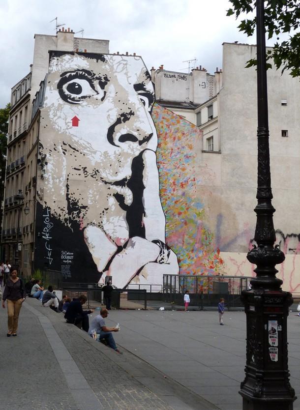 jef aérosol street art paris chut