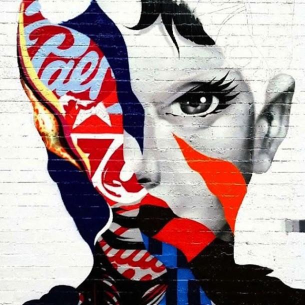 Tristan eaton famous street art audrey hepburn