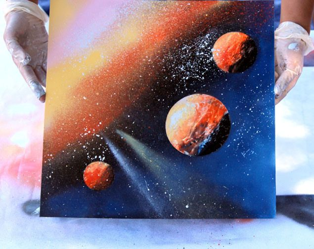 tutoriel français space painting