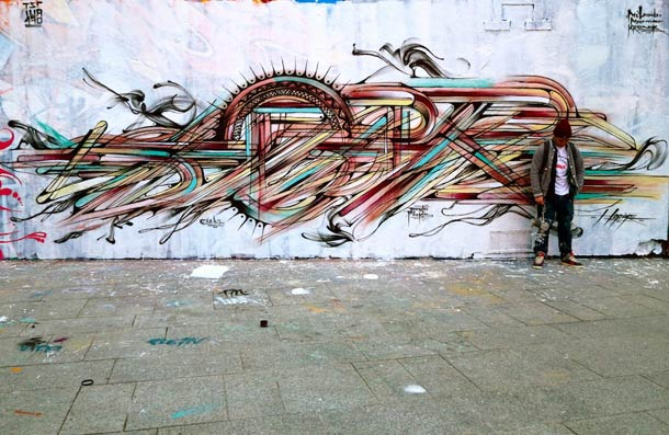Hopare abstract fresque
