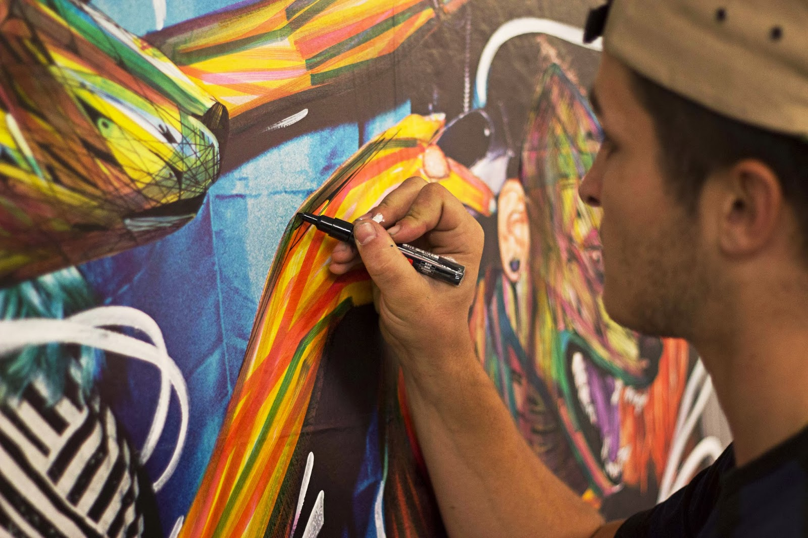 Hopare en action