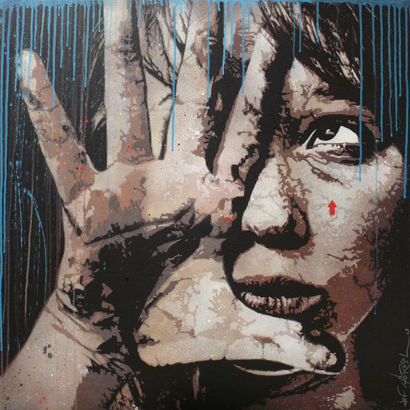jef aérosol portrait petite fille street art français