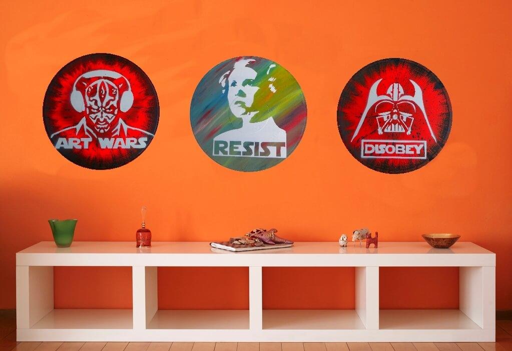 idée décoration geek star wars vinyle mur
