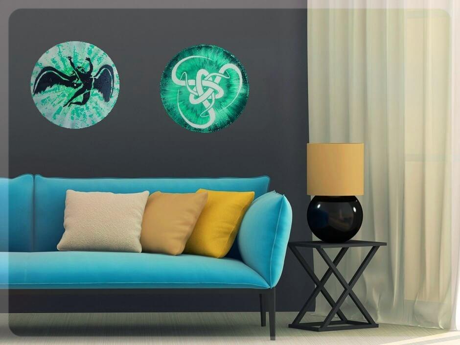 décoration tendance 2017 disque vinyle vintage mural