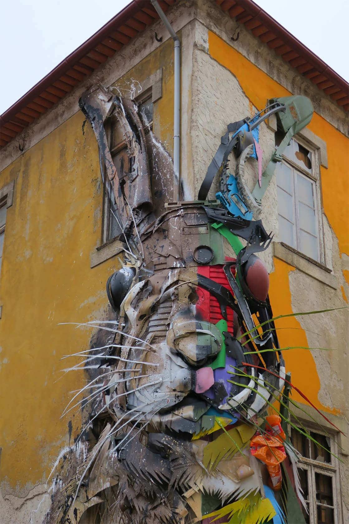 street-art-déchet-denonciation-écologie-bordalo2-lapin