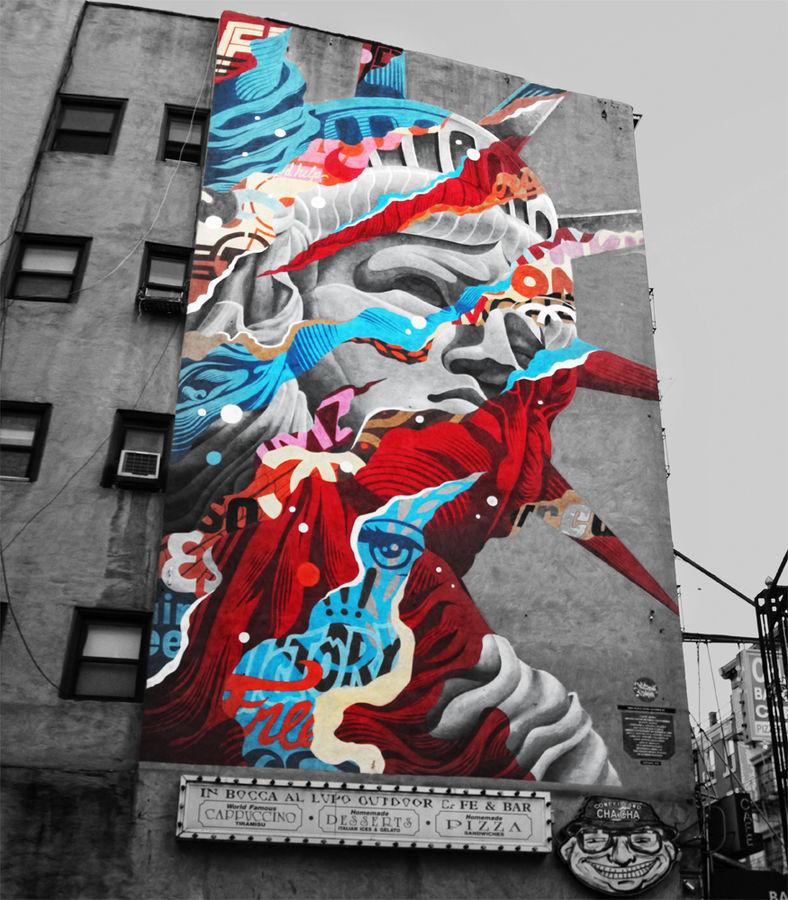 Tristan Eaton staut de la liberté street art