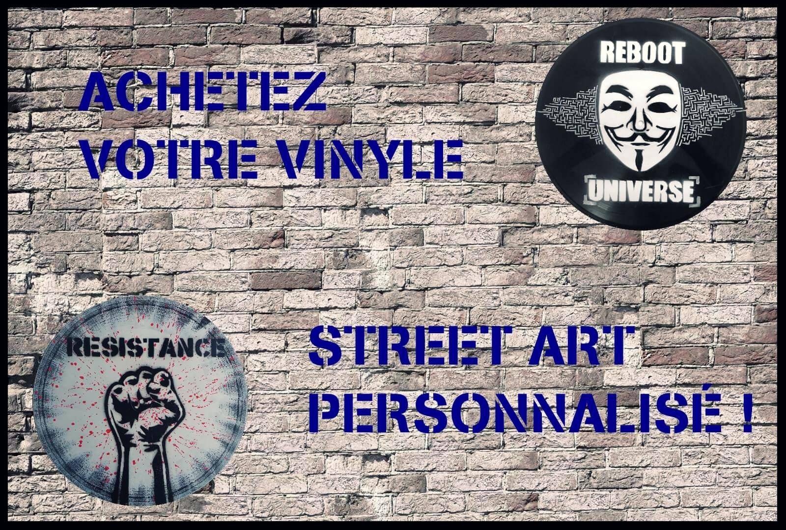 décoration murale tendance 2017 disque vinyle street art