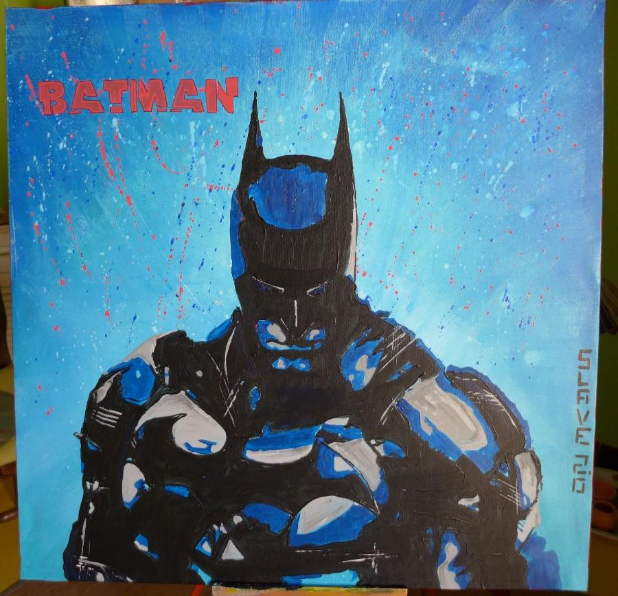 Batman Street art sur toile par Slave 2.0