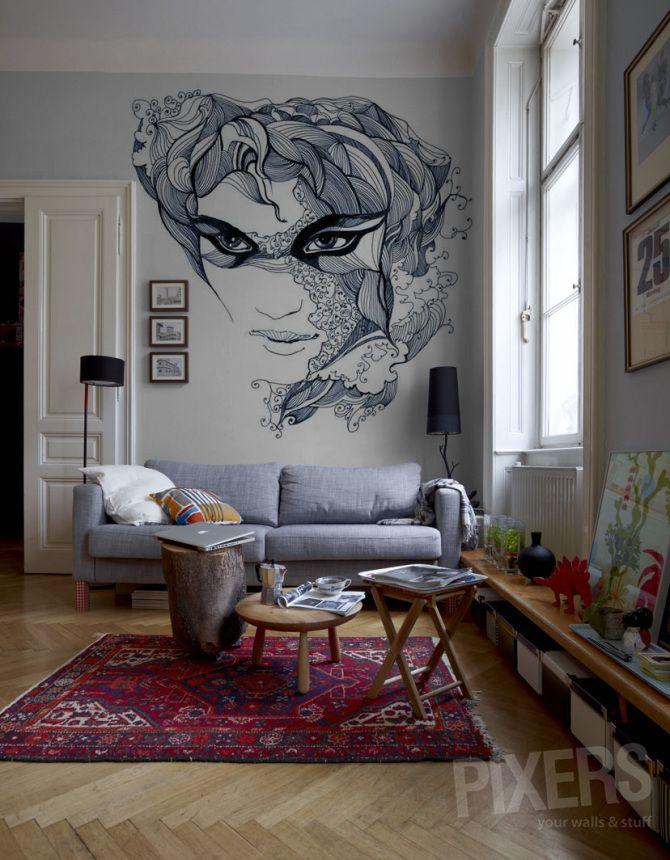 fresque street art déco intérieure salon