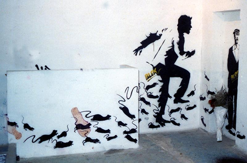 blek le rat street art les rats 1985