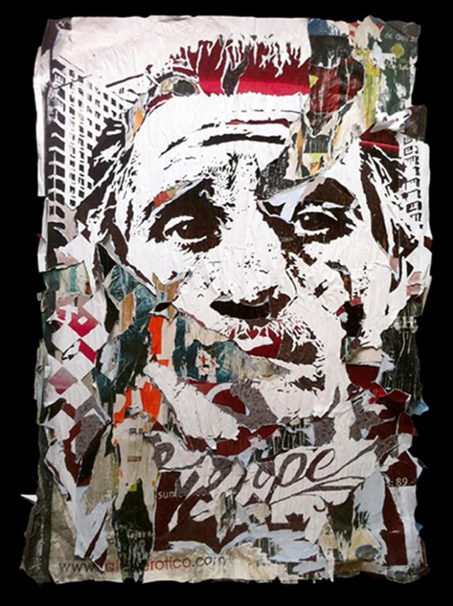 vhils street art pochoir et affiches déchirées