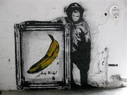 blek le rat street art banana monkey warhol