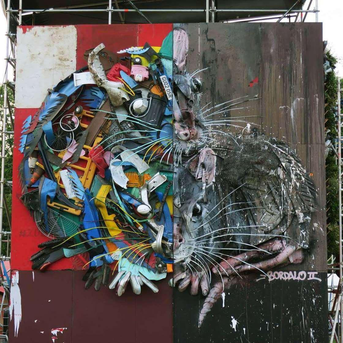 street-art-déchet-denonciation-écologie-bordalo2-hamster