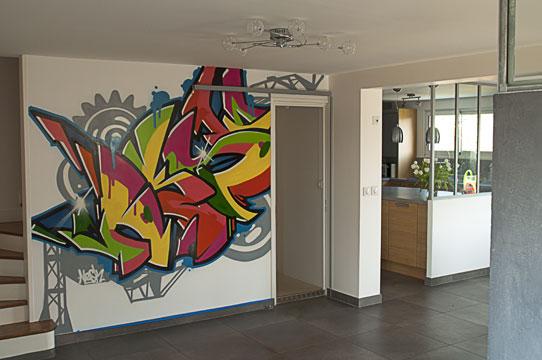graffiti mural décoration intérieure