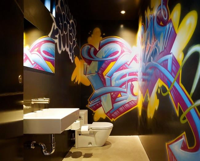 graffiti mural décoration salle de bain