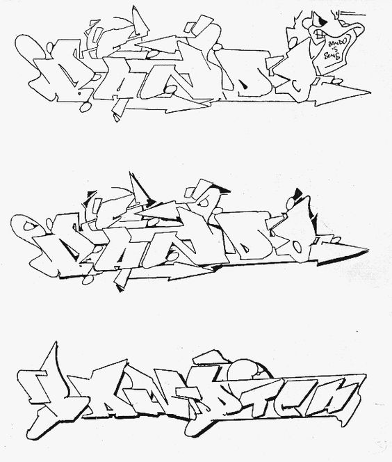bando sketch graffiti lettrage style