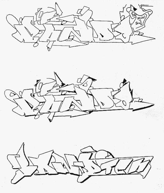 bando sketch graffiti lettrage style