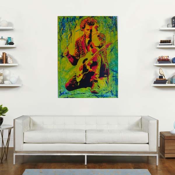 Tableau photo sur toile déco street art The Rolling Stones Keith Richards