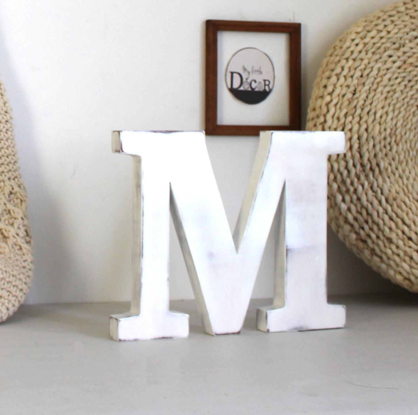 décoration grosse lettre M intérieur tendance