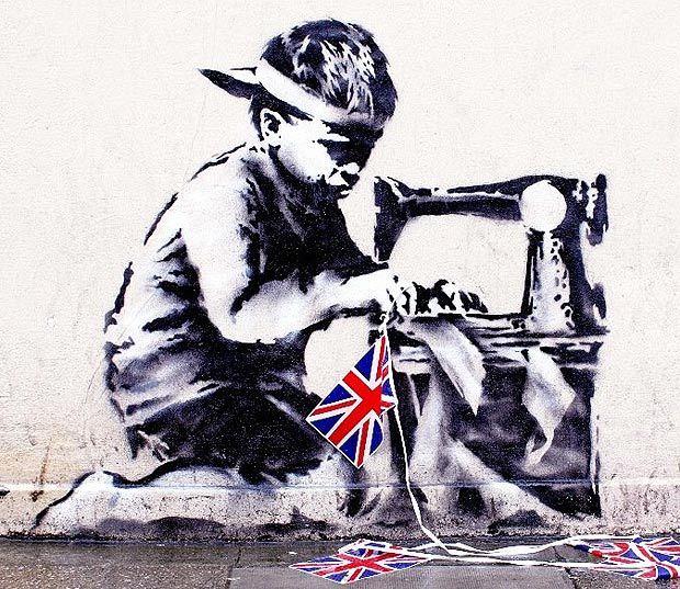 slave labor banksy stolen street art record vente encheres