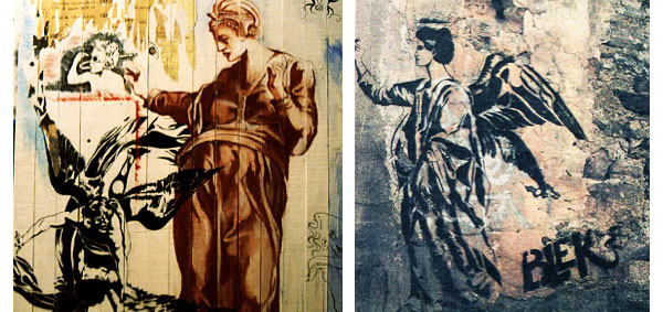 blek le rat street art antics women