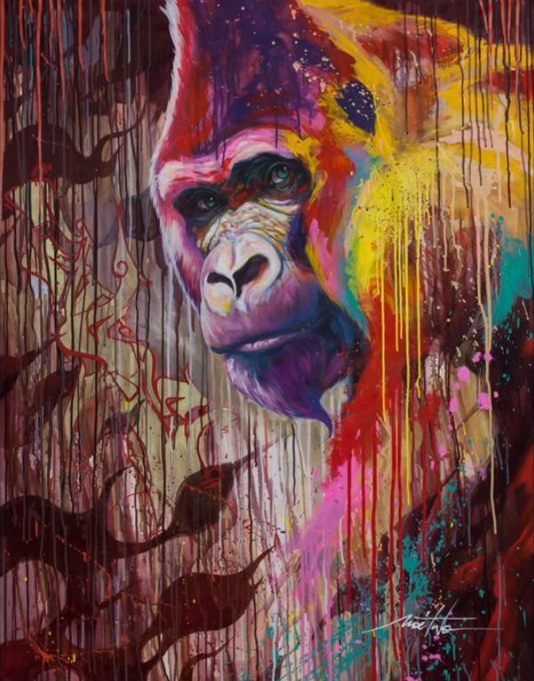 Noe-Two-Street-Art-gorilla-sad